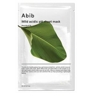 mild acidic pH sheet mask heartleaf
