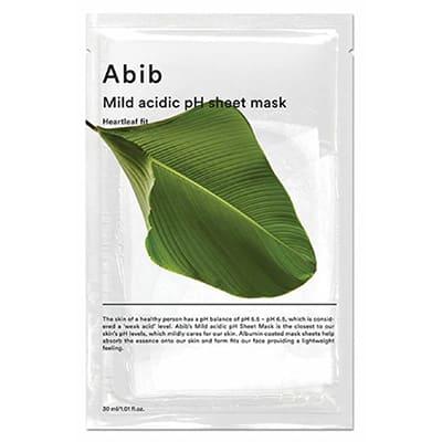 mild acidic pH sheet mask heartleaf(Abib)